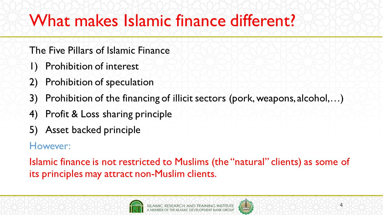What makes Islamic finance different