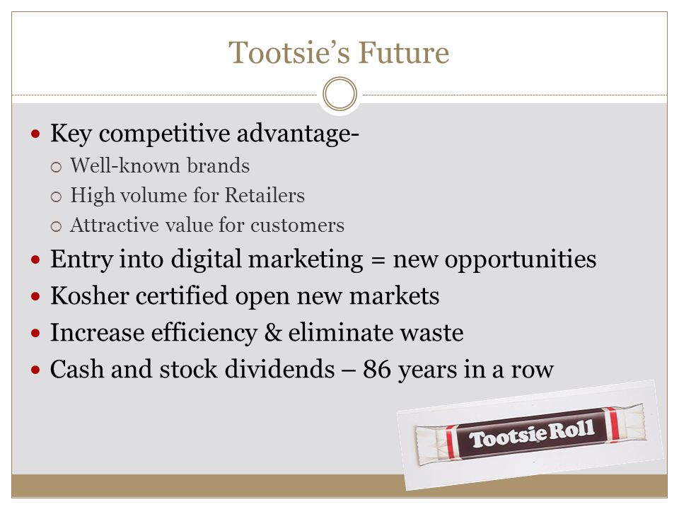 Tootsie's Future Key competitive advantage-
