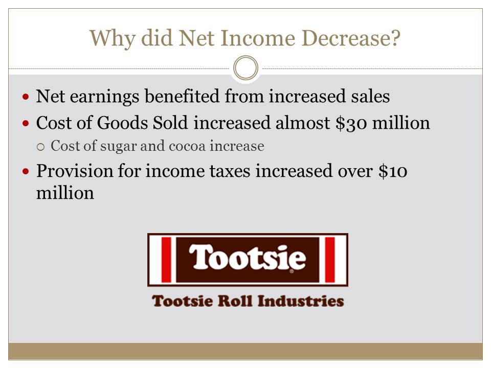 Why did Net Income Decrease