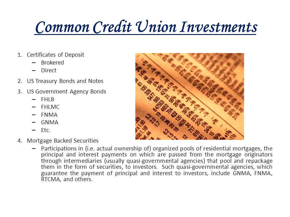 Common Credit Union Investments