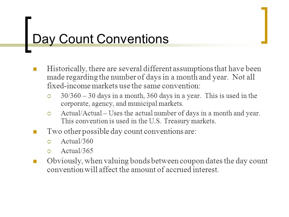 Day Count Conventions