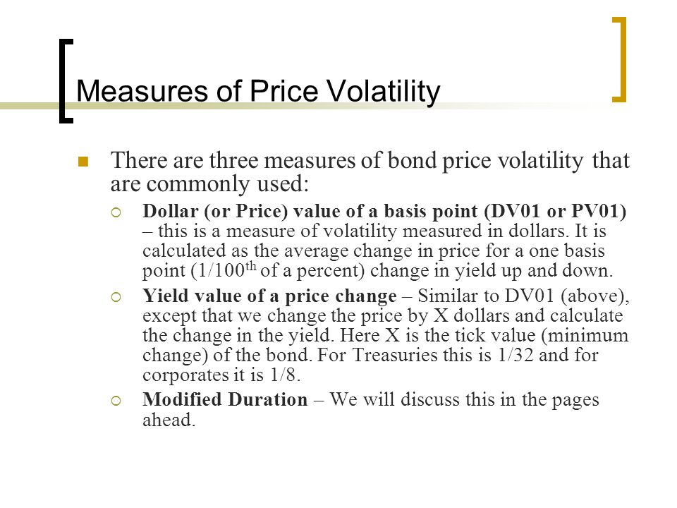 Measures of Price Volatility
