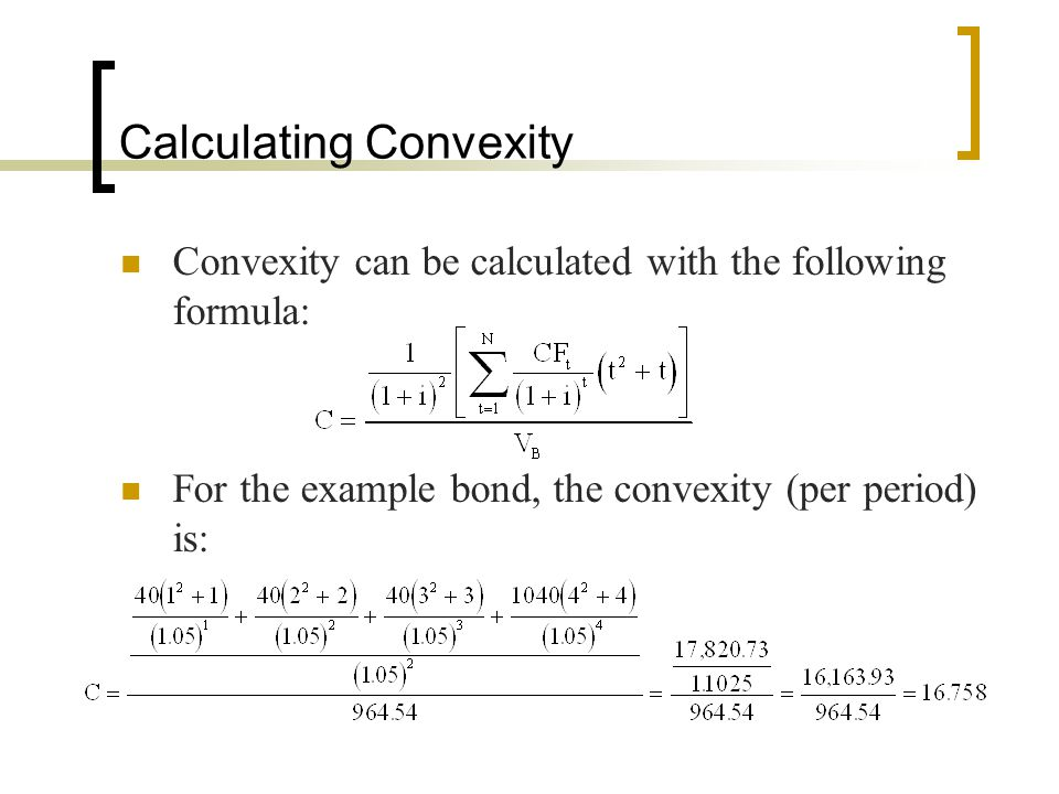Calculating Convexity