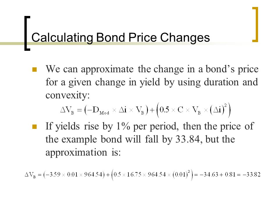 Calculating Bond Price Changes