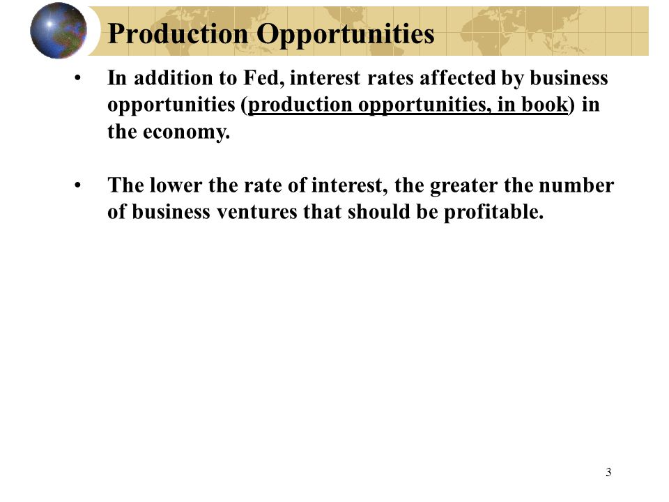 Production Opportunities