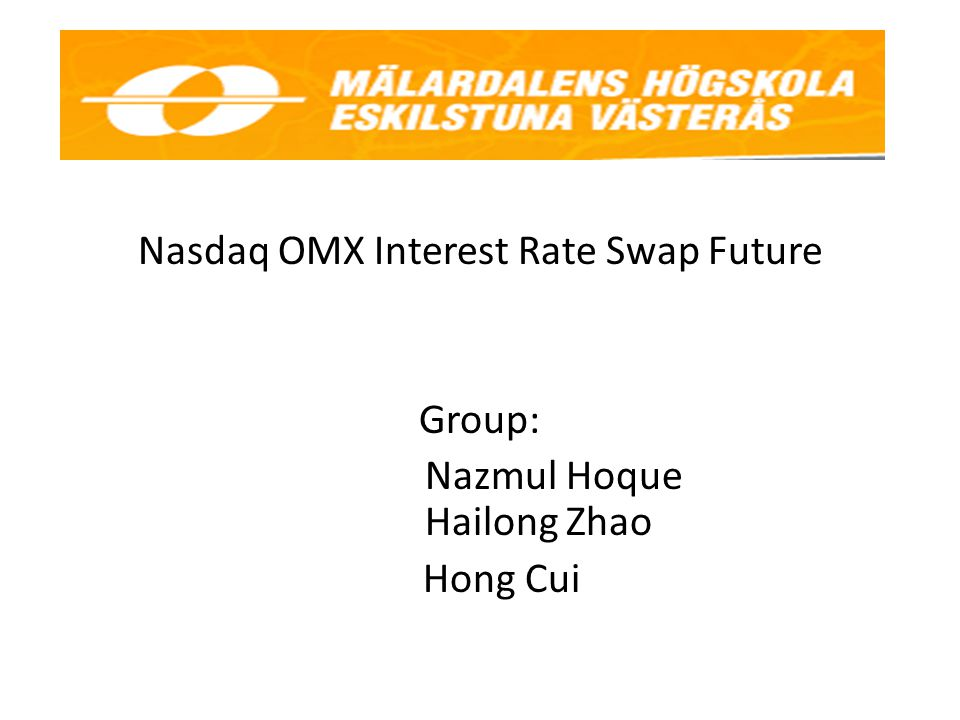 Nasdaq OMX Interest Rate Swap Future
