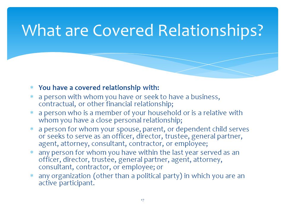 What are Covered Relationships