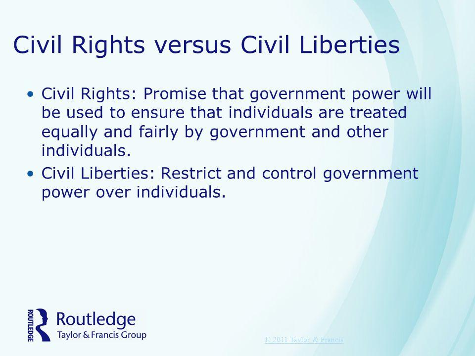Civil Rights versus Civil Liberties