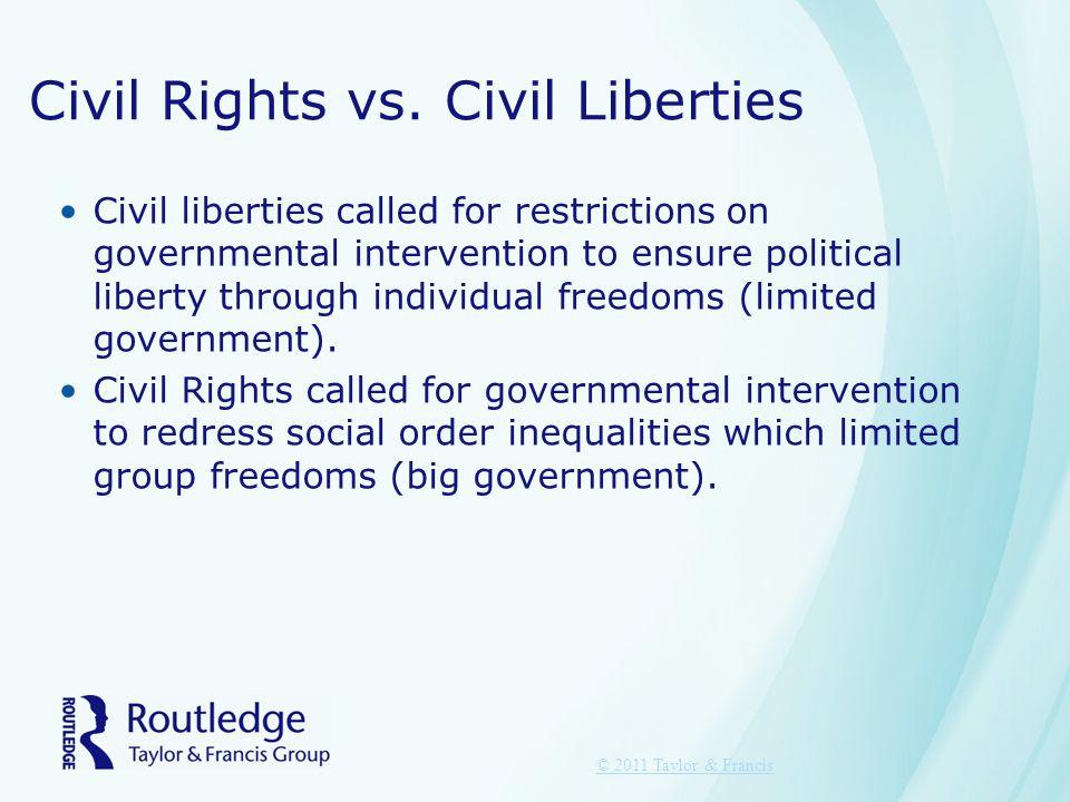 Civil Rights vs. Civil Liberties
