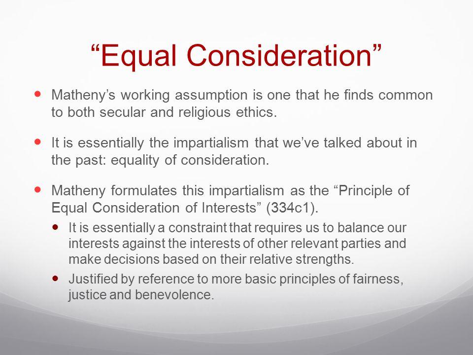 Equal Consideration