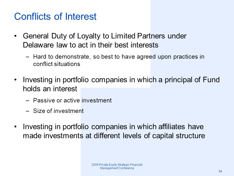 2005 Private Equity Strategic Financial Management Conference