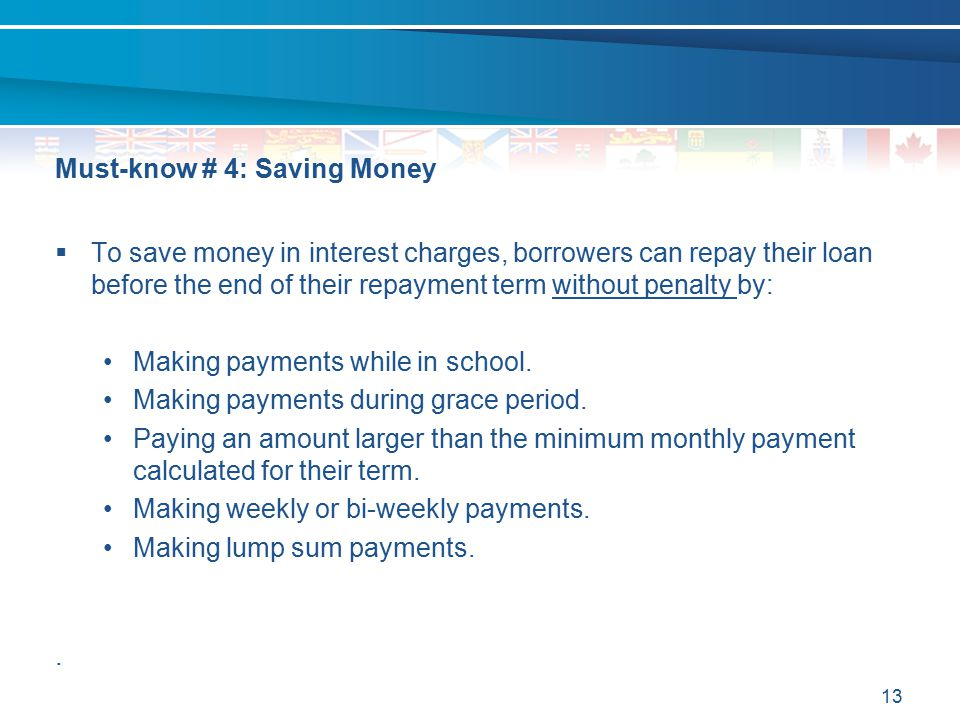 Must-know # 4: Saving Money
