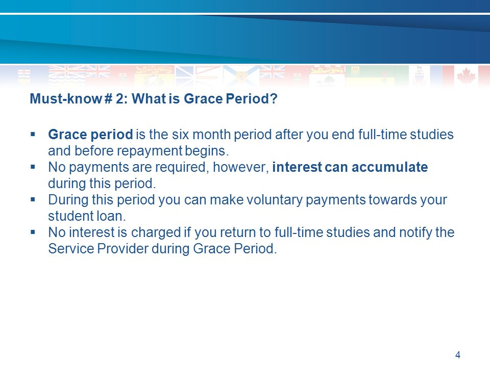 Must-know # 2: What is Grace Period