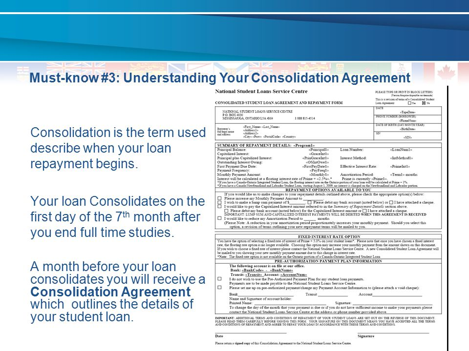 Must-know #3: Understanding Your Consolidation Agreement