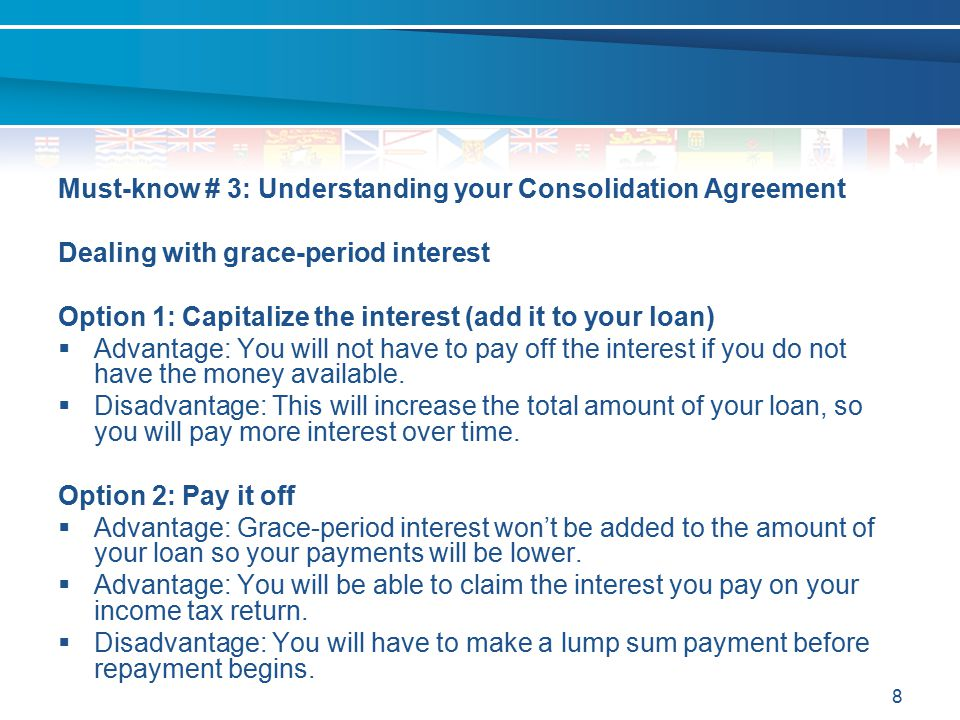 Must-know # 3: Understanding your Consolidation Agreement