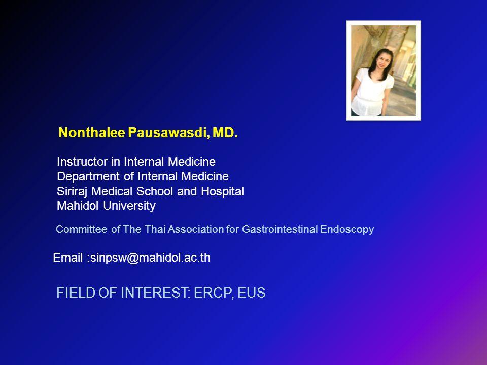 Nonthalee Pausawasdi, MD.