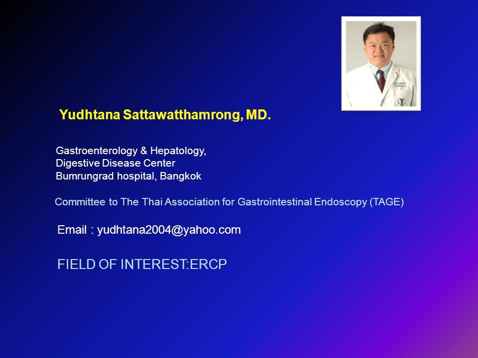Yudhtana Sattawatthamrong, MD.