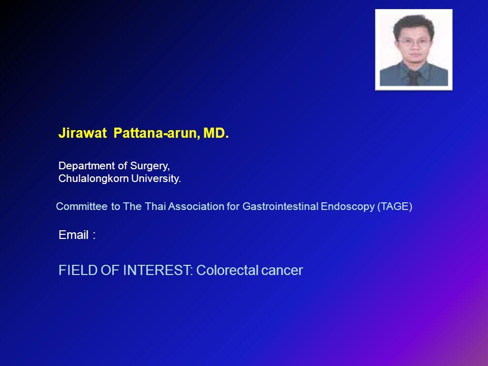 Jirawat Pattana-arun, MD.