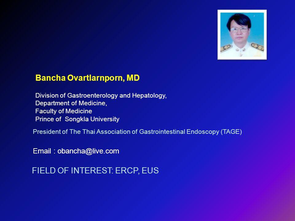Bancha Ovartlarnporn, MD
