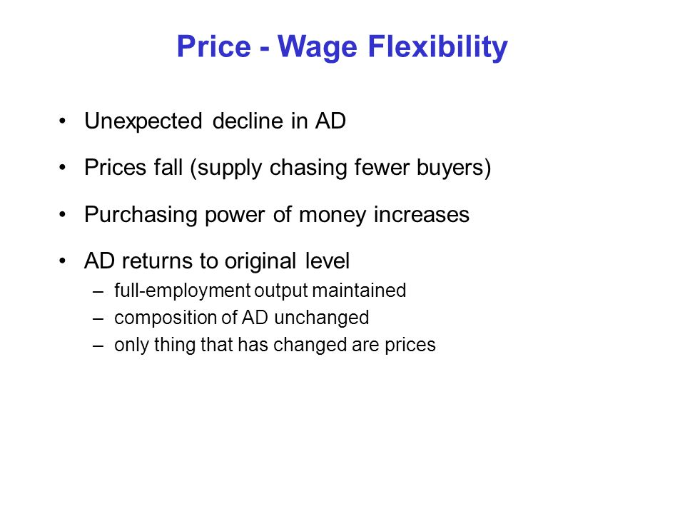 Price - Wage Flexibility