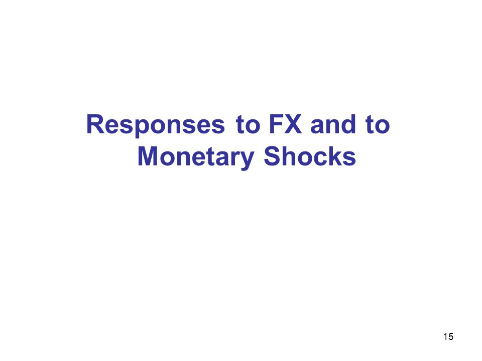 Responses to FX and to Monetary Shocks