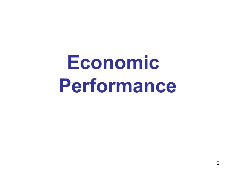 Economic Performance 2