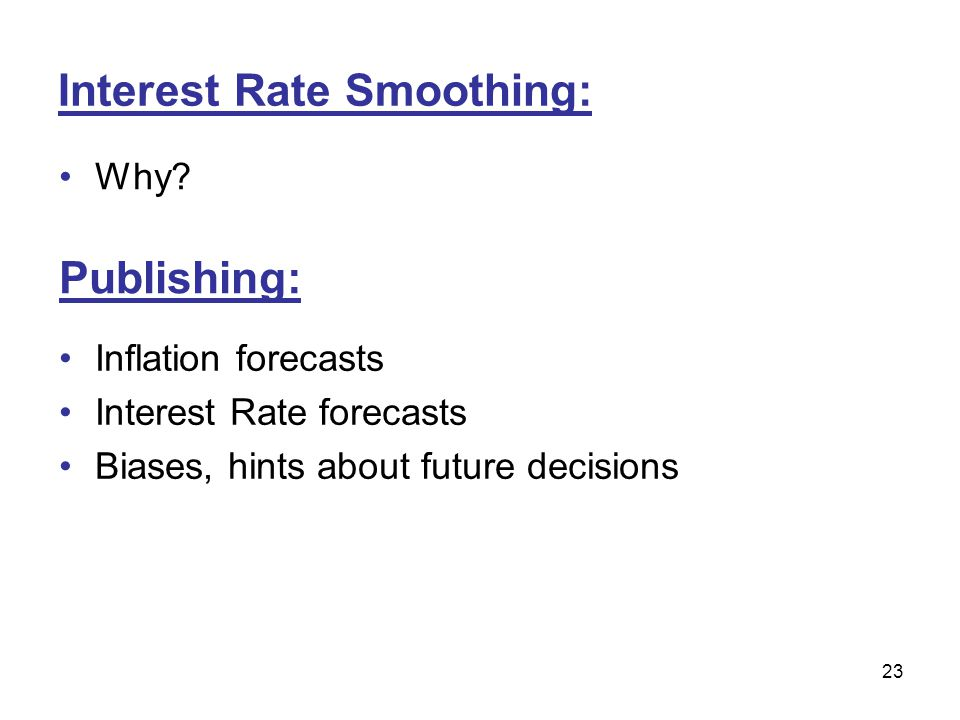 Interest Rate Smoothing: