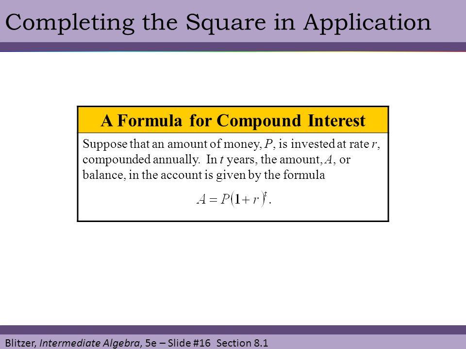 A Formula for Compound Interest