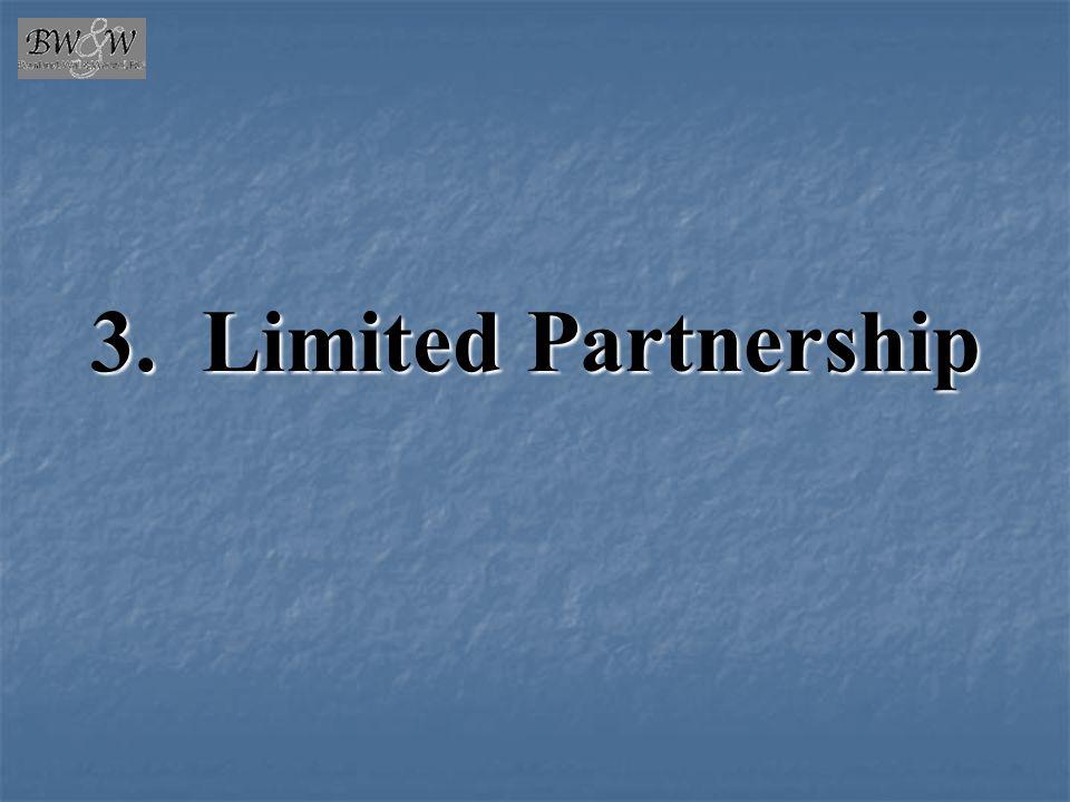 3. Limited Partnership