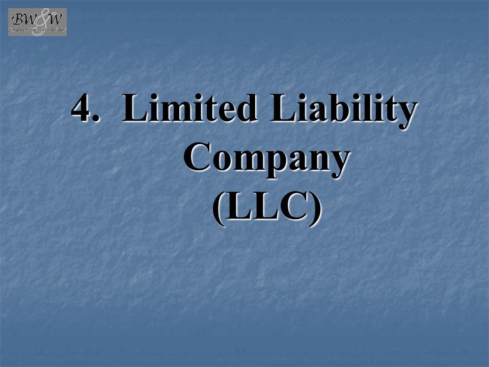 4. Limited Liability Company (LLC)