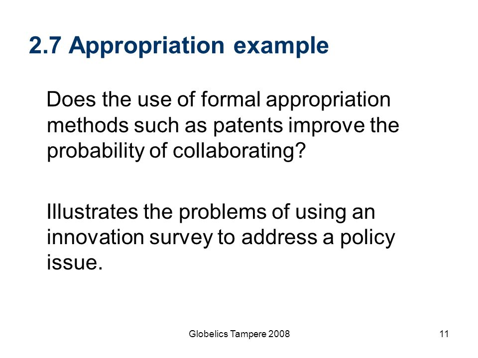 2.7 Appropriation example