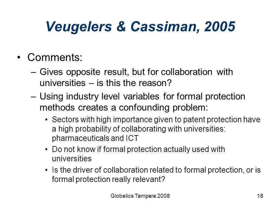 Veugelers & Cassiman, 2005 Comments: