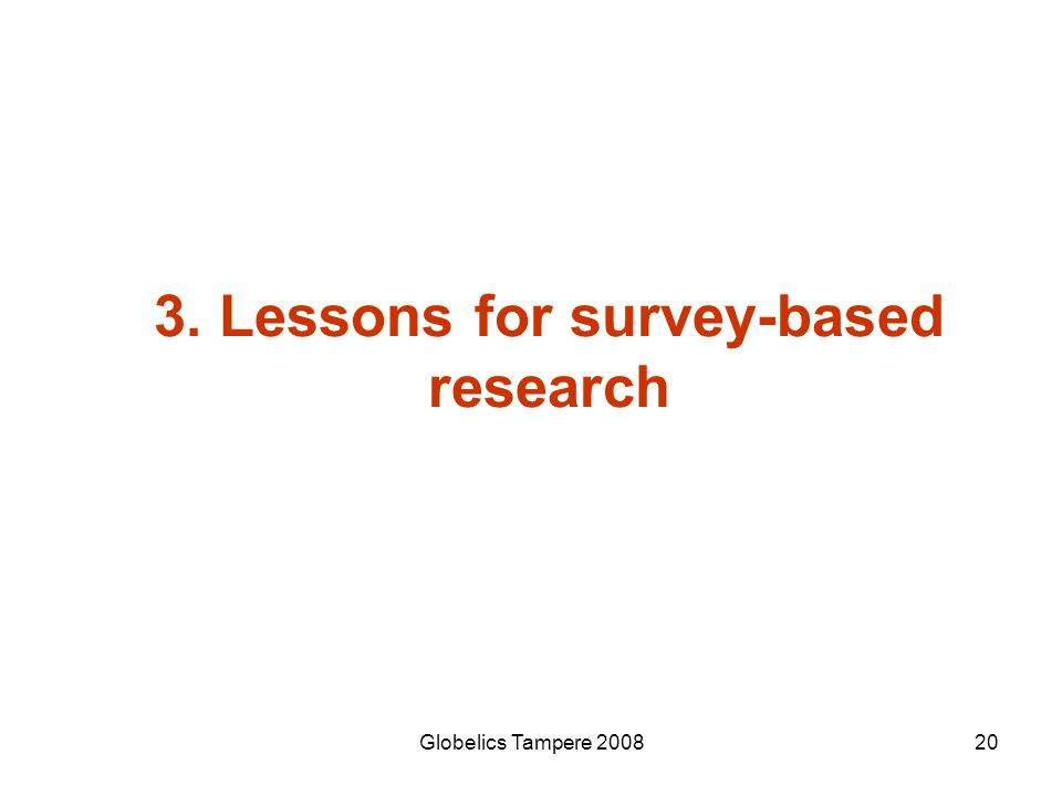 3. Lessons for survey-based research