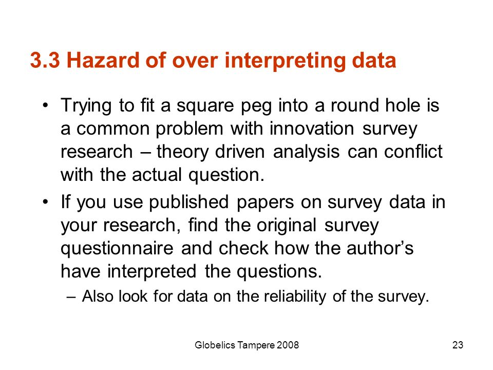 3.3 Hazard of over interpreting data