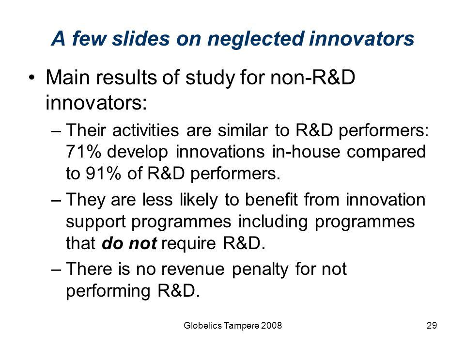 A few slides on neglected innovators