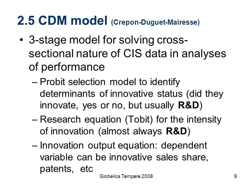 2.5 CDM model (Crepon-Duguet-Mairesse)