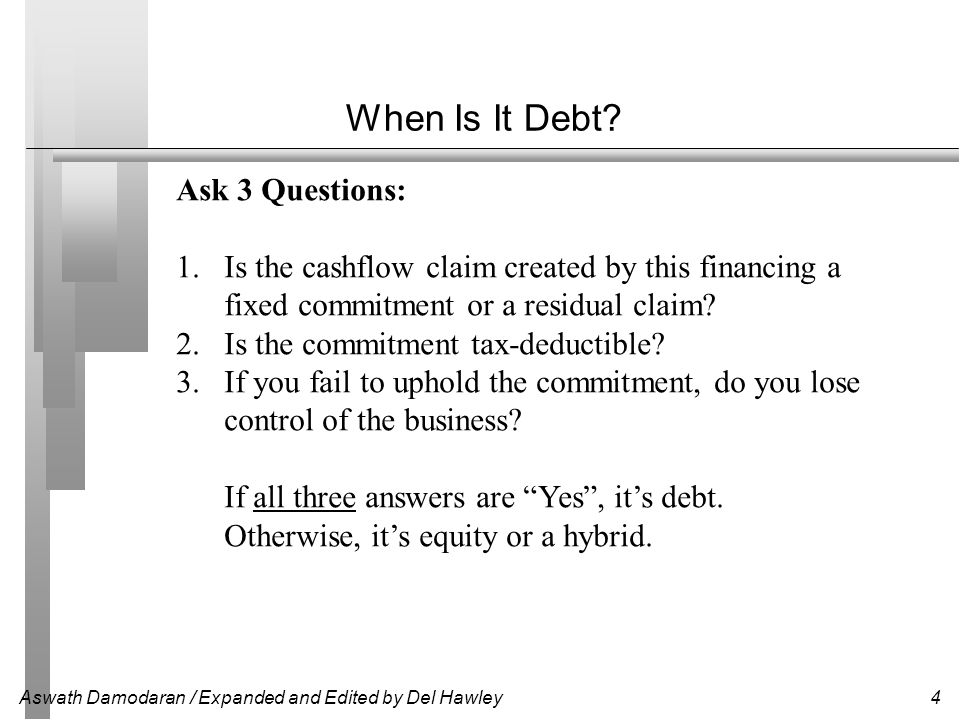 When Is It Debt Ask 3 Questions: