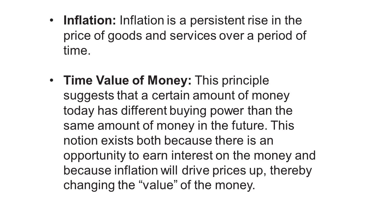 Inflation: Inflation is a persistent rise in the price of goods and services over a period of time.