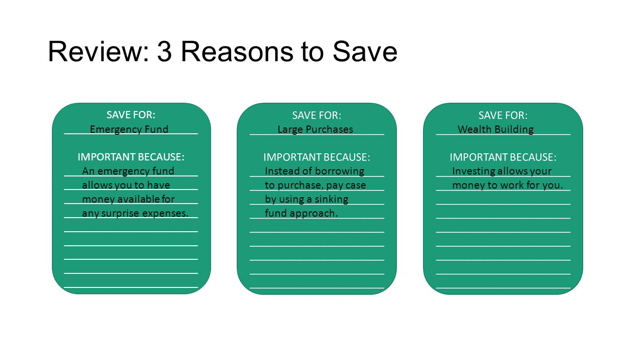 Review: 3 Reasons to Save