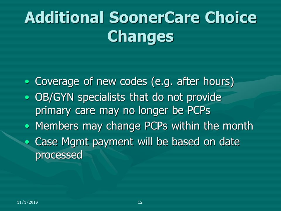 Additional SoonerCare Choice Changes