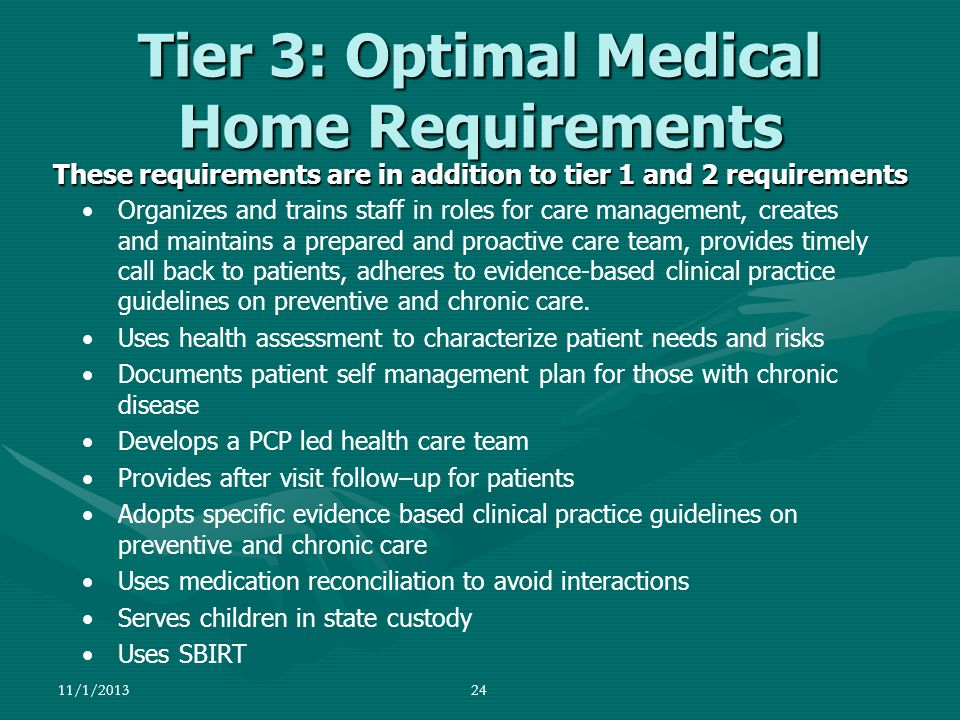 Tier 3: Optimal Medical Home Requirements