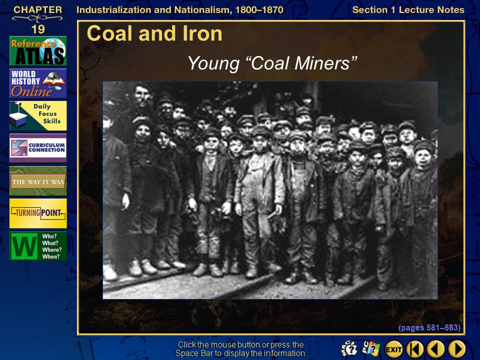 Coal and Iron Young Coal Miners Section 1-13 (pages 581–583)