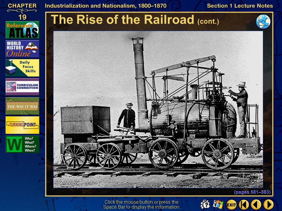 The Rise of the Railroad (cont.)