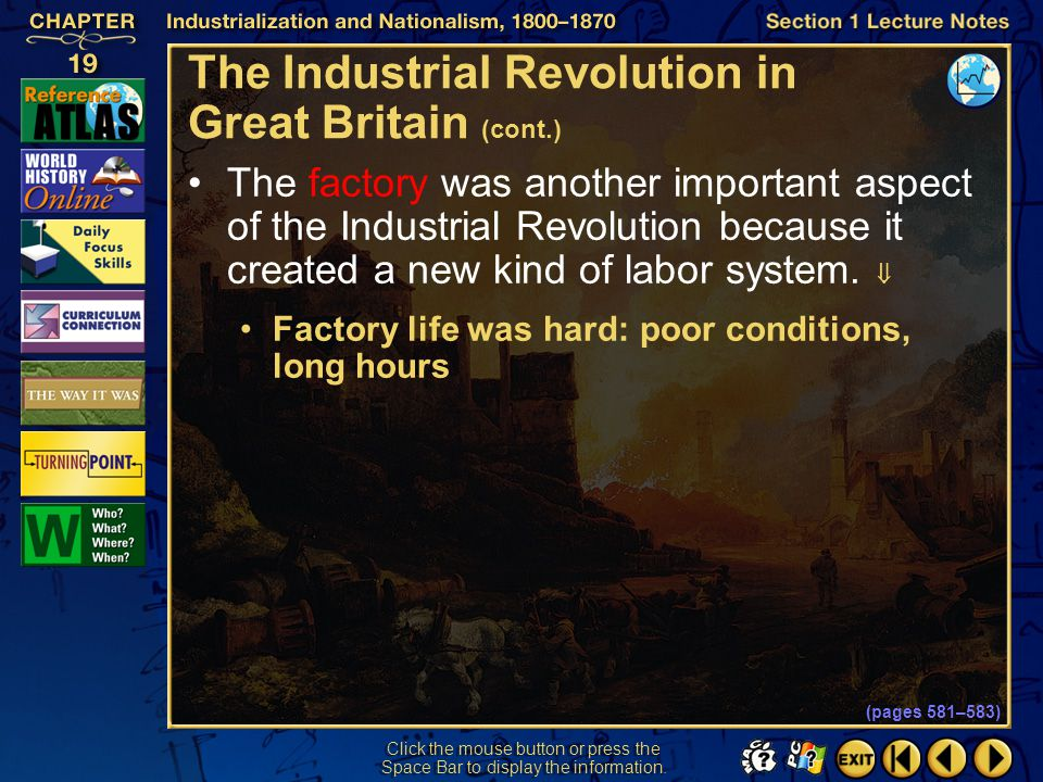The Industrial Revolution in Great Britain (cont.)