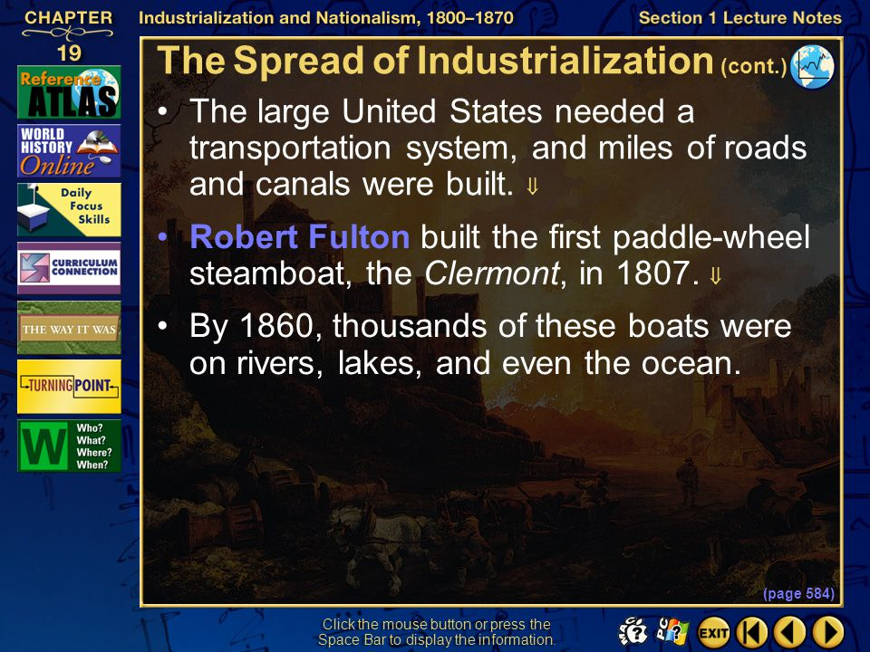 The Spread of Industrialization (cont.)