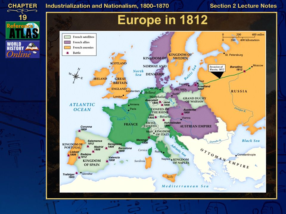 Europe in 1812 Section 2-7