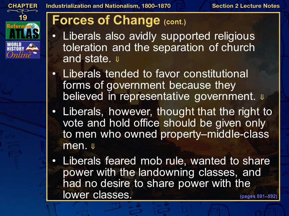 Forces of Change (cont.)