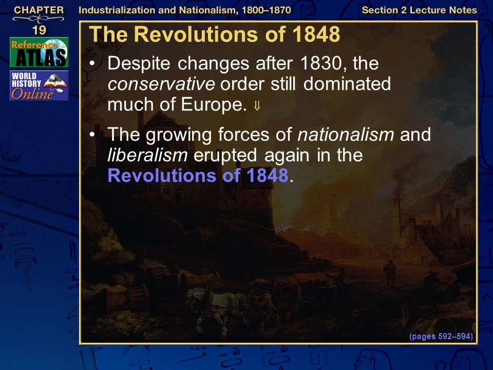 The Revolutions of 1848 Despite changes after 1830, the conservative order still dominated much of Europe. 