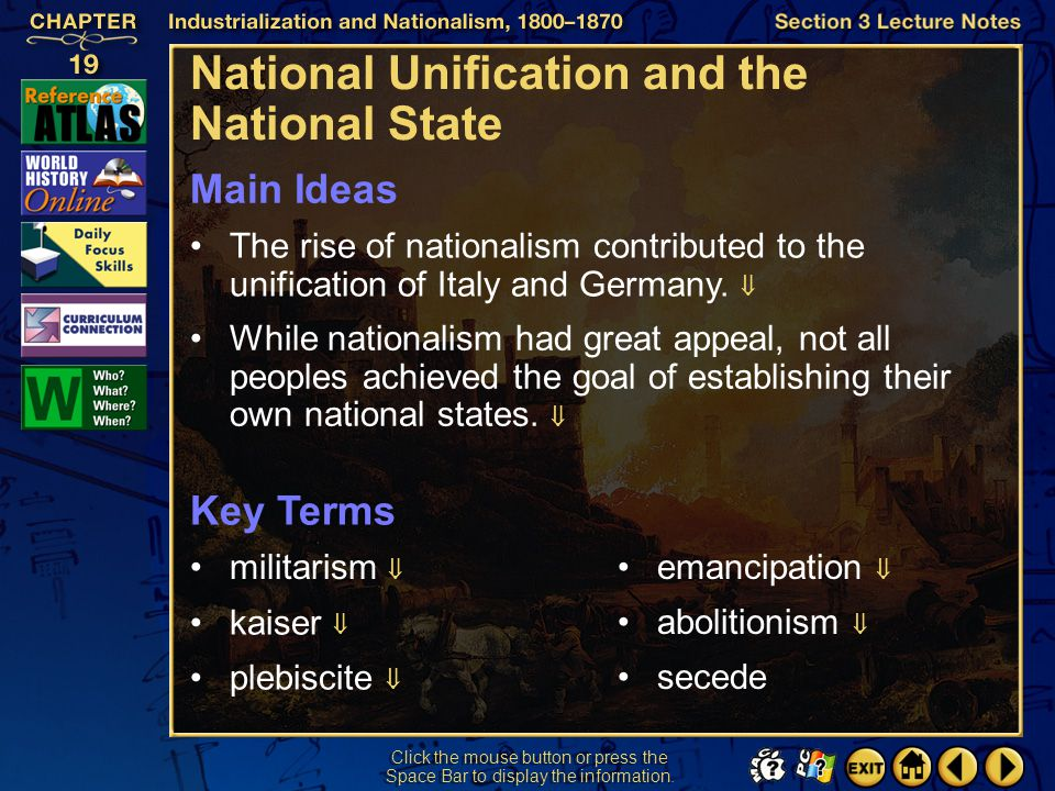 National Unification and the National State