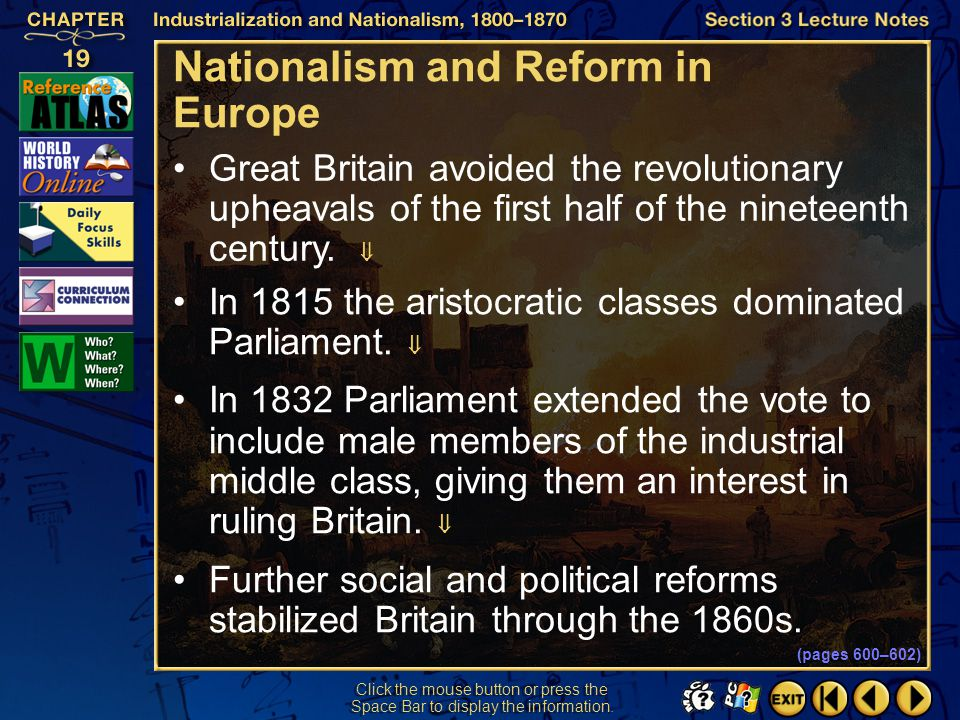 Nationalism and Reform in Europe